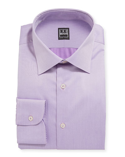 Men's Marcus Twill Barrel-Cuff Dress Shirt, Lavender