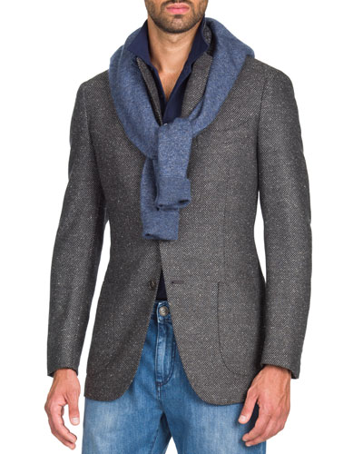 b8d7fead725 Quick Look. Isaia · Men s Grayblack Geometric Jacket