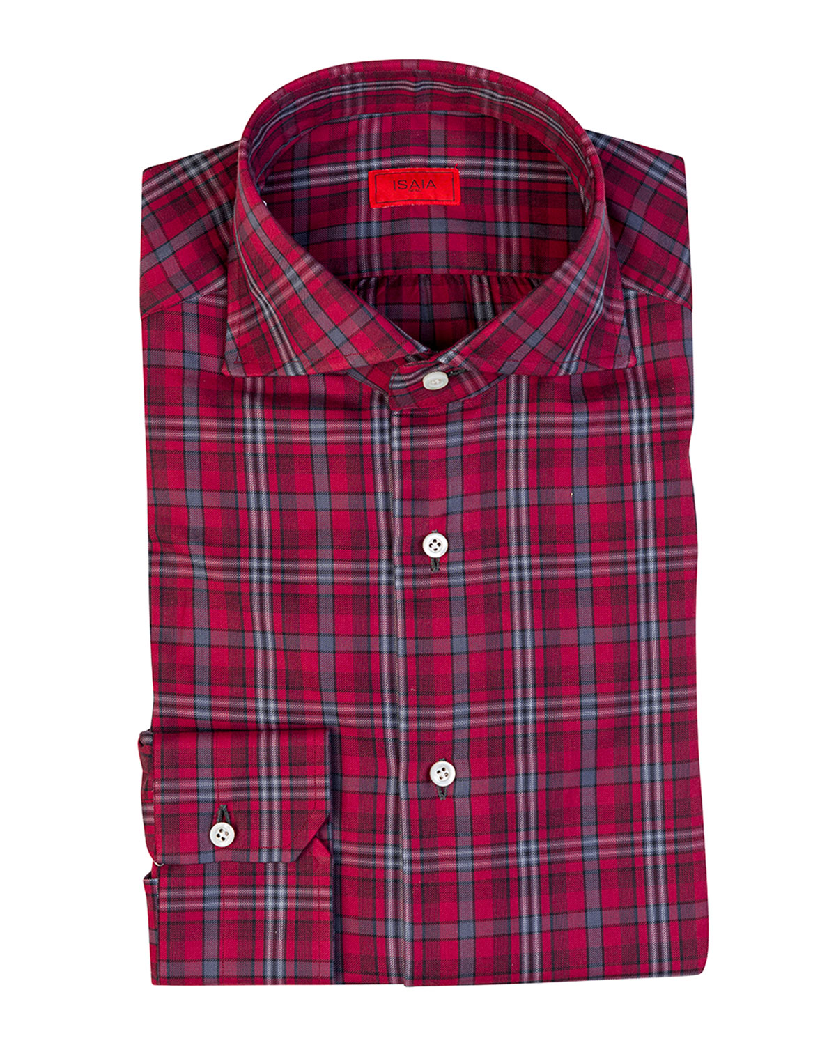 Men's Plaid Cotton Sport Shirt