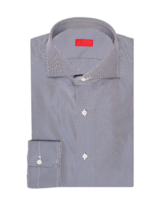 Men's Twill Stripe Cotton Dress Shirt