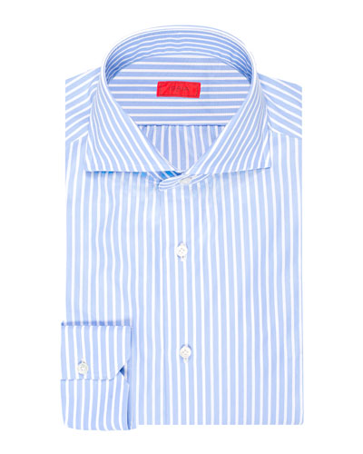 Men's Striped Cotton Dress Shirt