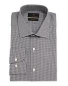 Ike Behar Men's Marcus Check Barrel-Cuff Dress Shirt