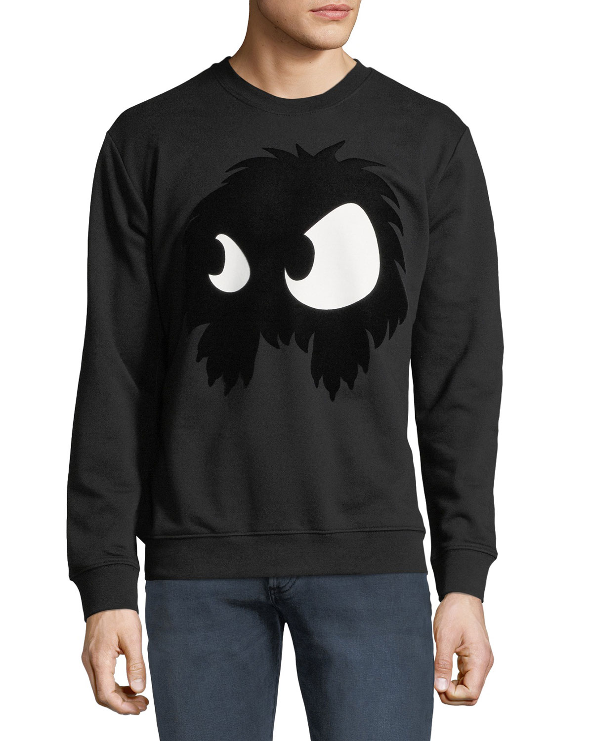 Men's Felt Monster-Graphic Sweatshirt