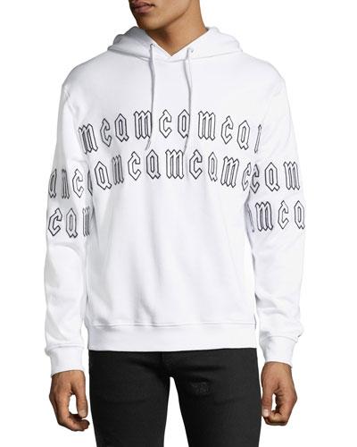 Men's Clean Logo-Print Hoodie Sweatshirt