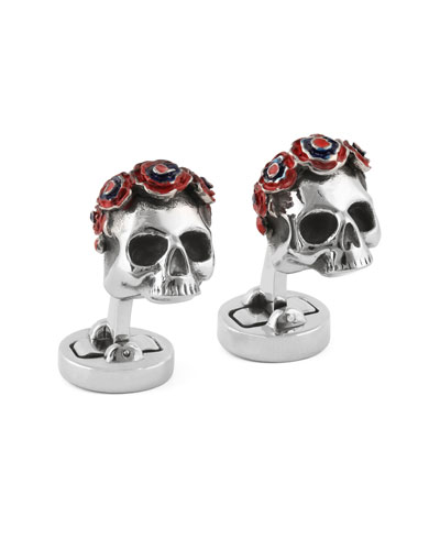 Steel Your Face Cuff Links, Silvertone