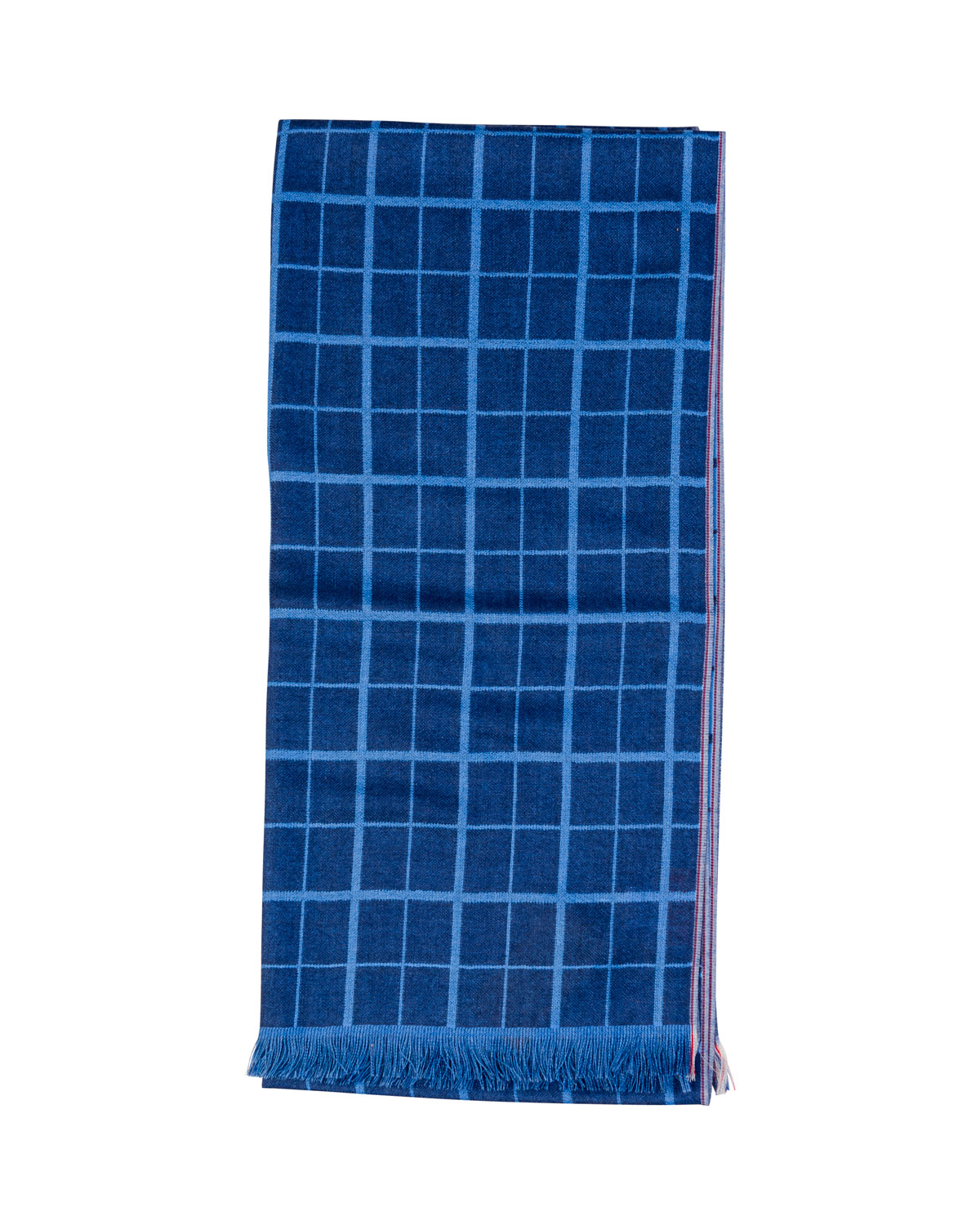 Men's Double-Face Grid Scarf