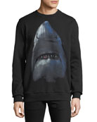 Givenchy Men's Cuban-Fit Shark Graphic Sweatshirt
