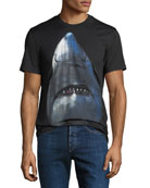 Givenchy Men's Cuban-Fit Shark Graphic T-Shirt