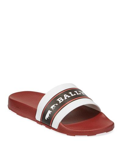 7f3e3d7139b Quick Look. Bally · Men s Ani 8 Rubber Pool Slide Sandals