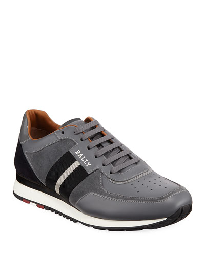 Men's Aston New5 Leather Sneakers w/ Trainspotting Stripe