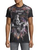 Balmain Men's Galaxy Distressed T-Shirt