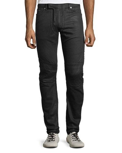 6987d911aa1 Quick Look. Balmain · Men's Waxed Stretch-Denim Jeans