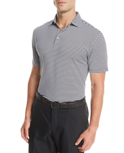 Men's Competition Striped Jersey Polo Shirt