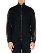 Fendi Men's FF Tape Stripe Zip-Front Track Jacket
