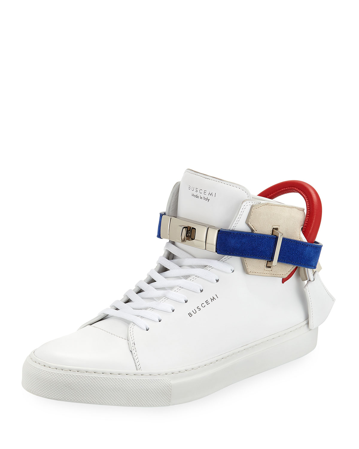 Men's 100mm Leather Mid-Top Sneakers