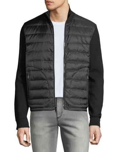 Men's Hybrid Lightweight Full-Zip Jacket