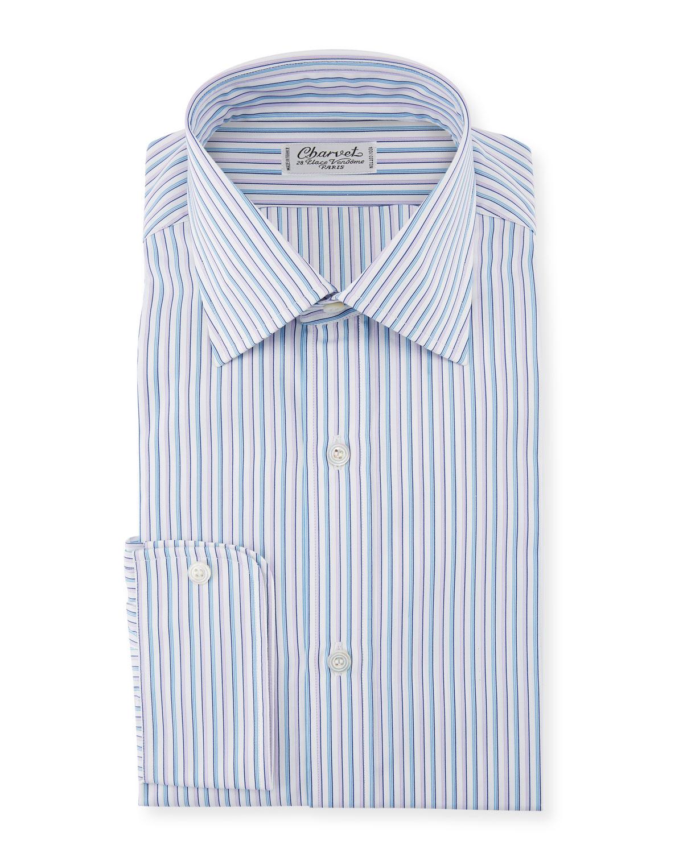 Men's Two-Tone Pinstripe Dress Shirt