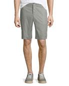 ATM Anthony Thomas Melillo Men's Poplin Flat-Front Shorts