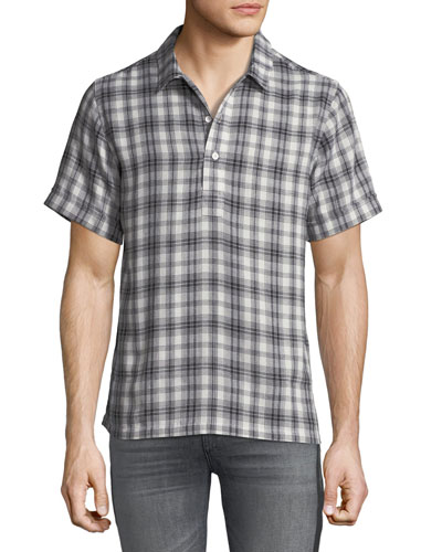 Men's Ashkelon Plaid Polo Shirt