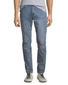 Ovadia & Sons Men's Slim-Leg Paint-Splattered Jeans