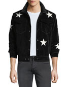 Ovadia & Sons Men's Star-Motif Snap-Front Jacket