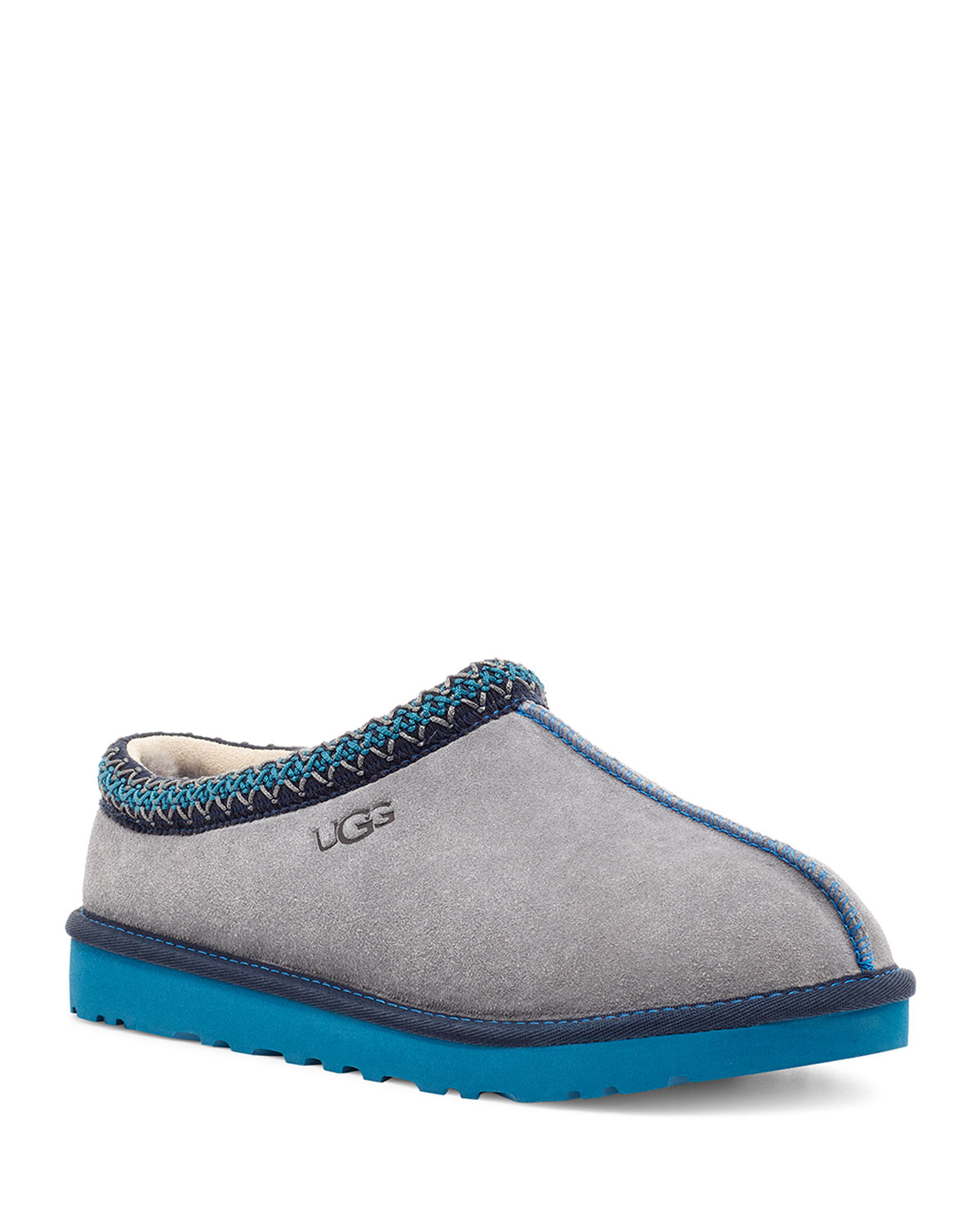Men's Tasman Shearling Suede Mule Slipper