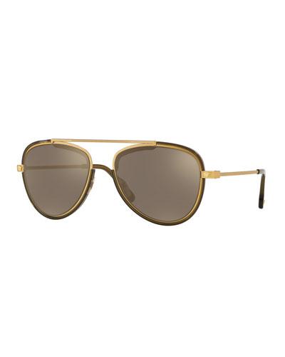 Gold Versace Sunglasses | Neiman Marcus