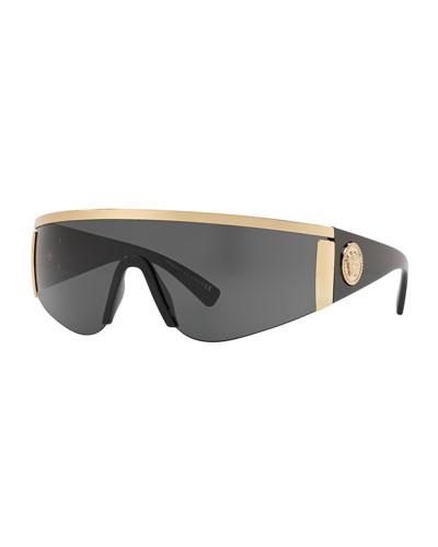 6bbe8f6df6 Quick Look. Versace · Men s Plastic Shield Sunglasses ...