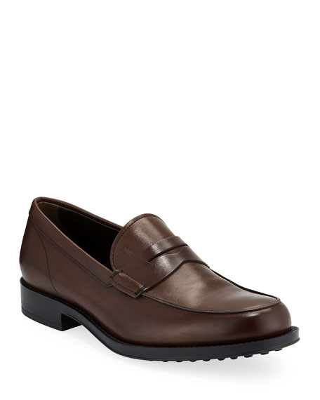Tod's Men's Smooth Leather Penny Loafers