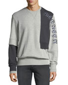 Alexander McQueen Men's Bicolor Reconstructed Cotton Sweatshirt