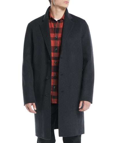 Men's Wool-Blend Car Coat