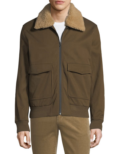 92f725a71c6e Quick Look. Vince · Men s Shearling-Trim Bomber Jacket