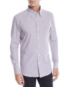 Ermenegildo Zegna Men's Woven Small-Check Button-Down Shirt
