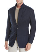 Ermenegildo Zegna Men's Cashmere-Silk Two-Button Blazer Jacket,