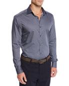 Ermenegildo Zegna Men's Micro-Print Sport Shirt