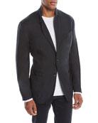 Ermenegildo Zegna Men's Cashmere-Silk Two-Button Blazer Jacket,
