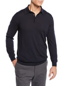 Ermenegildo Zegna Men's Cashmere Polo Sweater