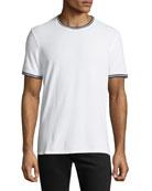 ATM Anthony Thomas Melillo Tipped Short-Sleeve Jersey T-Shirt