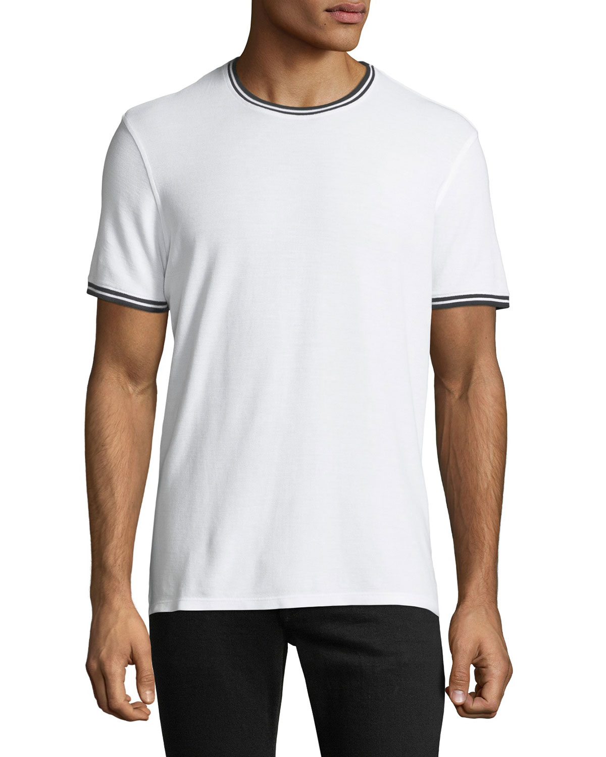 Tipped Short-Sleeve Jersey T-Shirt
