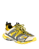 Balenciaga Men's Runway Track Sneakers, Yellow