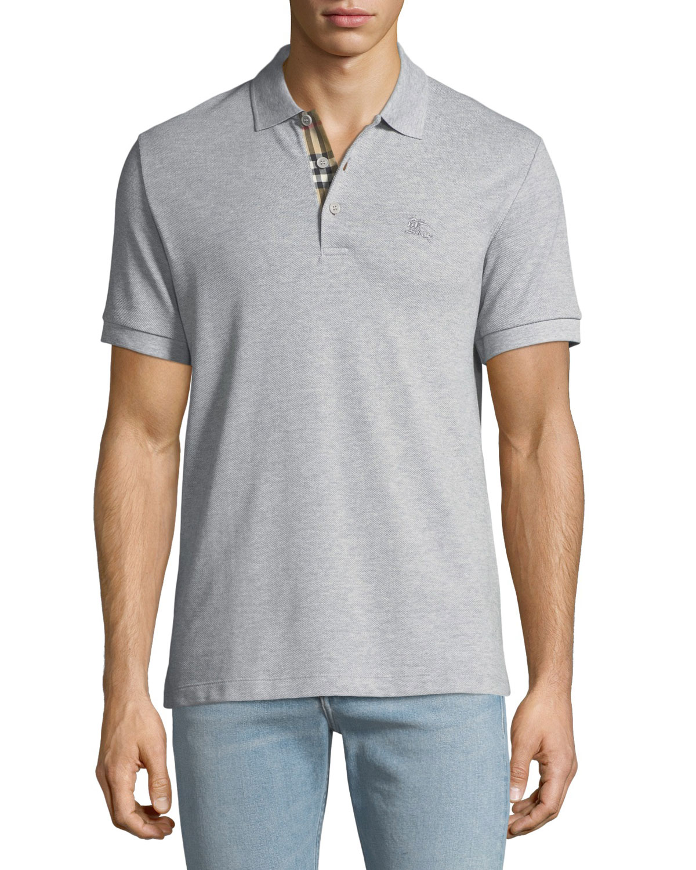 Hartford Polo Shirt with Check Detail