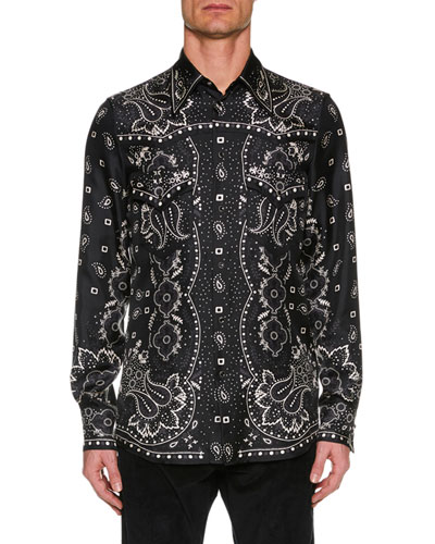 2f71ba98 Quick Look. Dsquared2 · Men's Paisley Silk Western Shirt