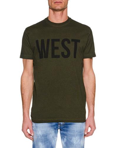 Men's WEST Cool-Fit Crewneck Short-Sleeve Cotton T-Shirt