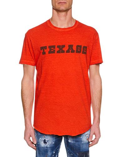 Men's Texass Cool-Fit Crewneck Cotton T-Shirt
