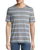 Michael Kors Men's Striped Linen-Blend T-Shirt