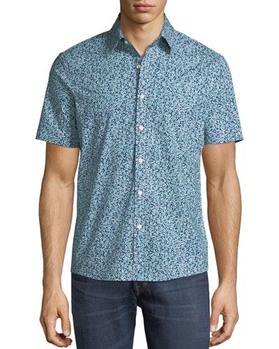 0010299812 Quick Look. Michael Kors · Men s Trim Fit Short-Sleeve Button-Front Shirt