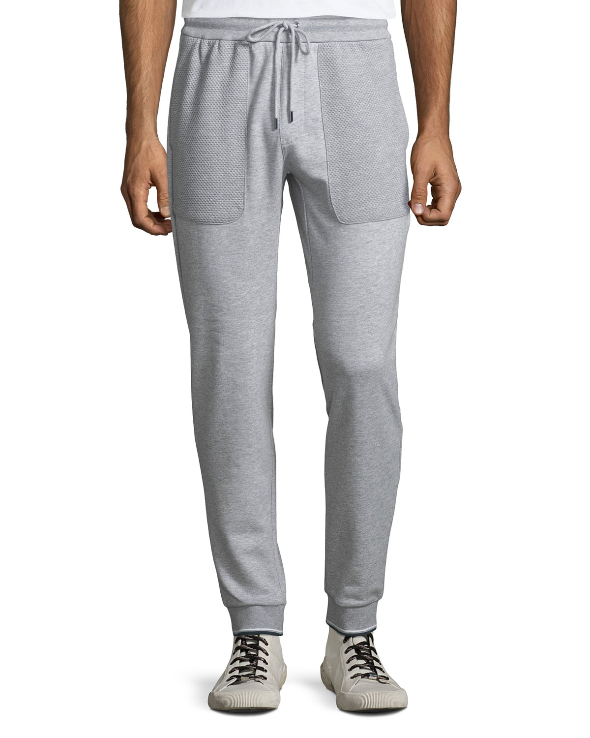 Men's Textured Cotton Sweatpants
