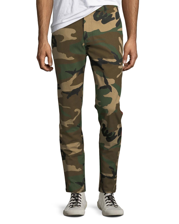 Men's Camo-Print Side-Stripe Track Pants