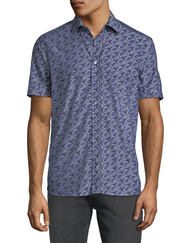 4518050eba378 Quick Look. Etro · Men s Dragon-Print Poplin Button-Down Shirt