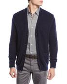 Il Borgo for Neiman Marcus V-Neck Button-Front Cashmere-Silk